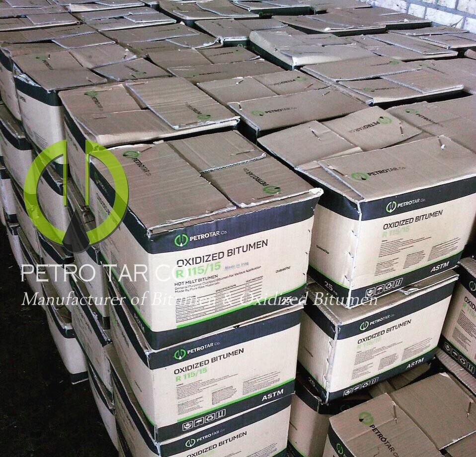 OXIDISED BITUMEN, BLOWN BITUMEN, OXIDIZED BITUMEN, 25KG CARTON BOX OXIDIZED BITUMEN, HARD BITUMEN, WATERPROOFING, ROOFING BITUMEN